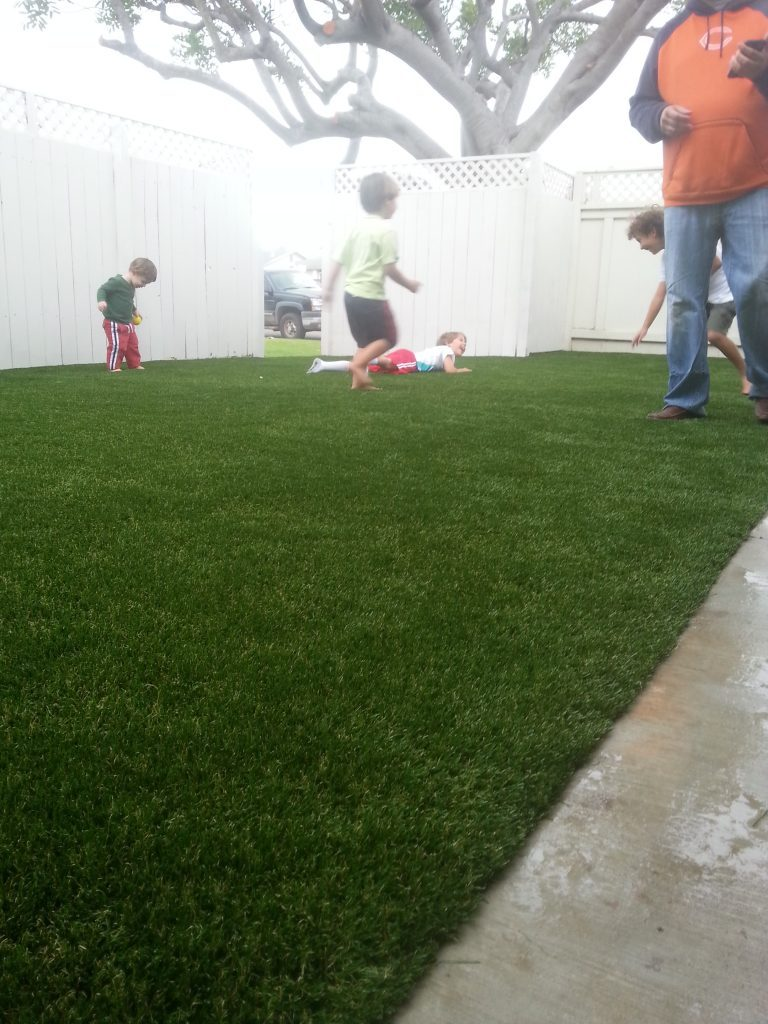 Synthetic Lawn Playground Installation San Diego, Best Artificial Turf Backyard Playgrounds