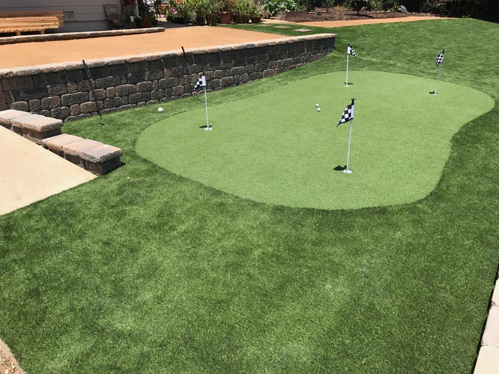 Golf Putting Green Installation San Diego, Artificial Grass Golf Putting Greens