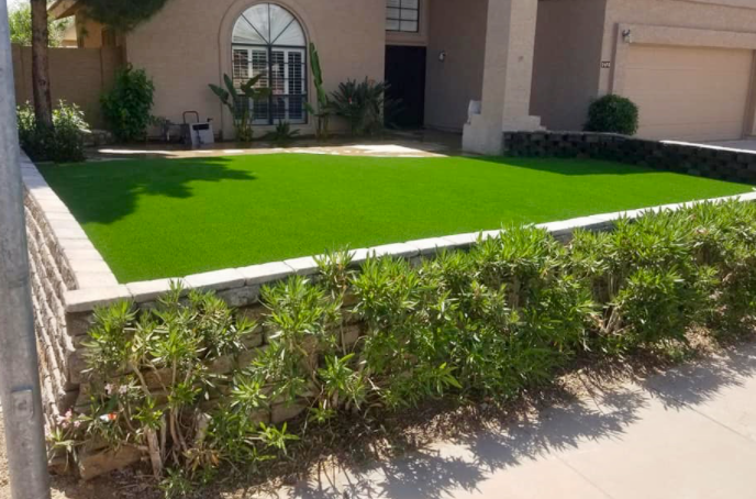 Artificial Turf For Small Budgets Front Yard Only In San Diego